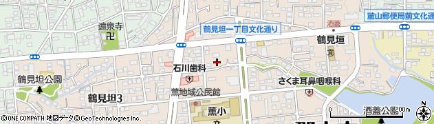 福島県郡山市鶴見坦周辺の地図