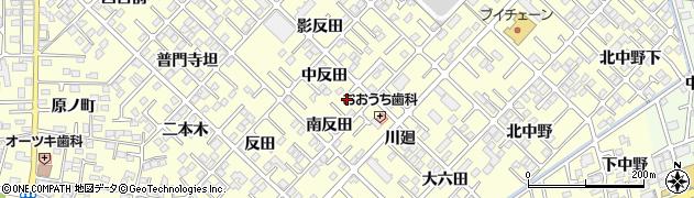 福島県郡山市大槻町(南反田)周辺の地図