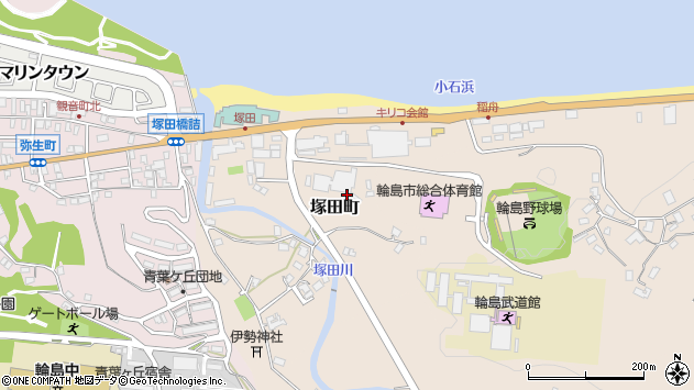 〒928-0003 石川県輪島市塚田町の地図