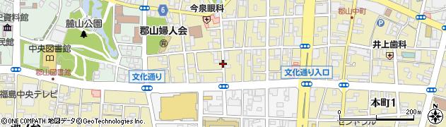 福島県郡山市堂前町周辺の地図