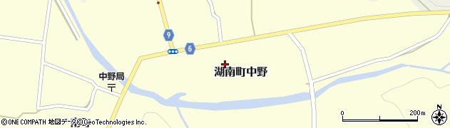 福島県郡山市湖南町中野(向町)周辺の地図