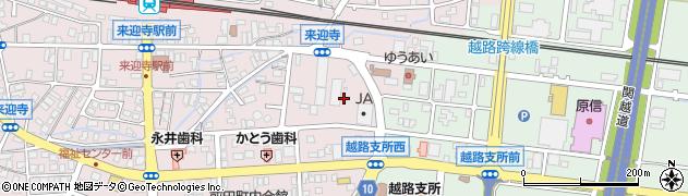 新潟県長岡市来迎寺周辺の地図