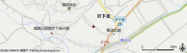 新潟県長岡市沢下条周辺の地図