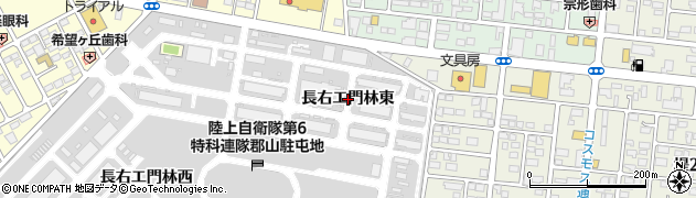 福島県郡山市大槻町(長右エ門林東)周辺の地図