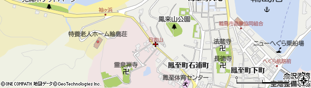 日吉山周辺の地図