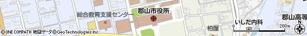 福島県郡山市周辺の地図