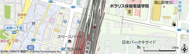 福島県郡山市宮田周辺の地図