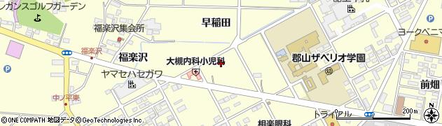 福島県郡山市大槻町(蝦夷坦)周辺の地図