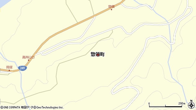 〒928-0006 石川県輪島市惣領町の地図