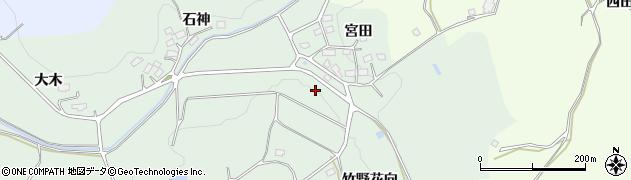 福島県郡山市下白岩町(竹野花)周辺の地図