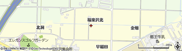 福島県郡山市大槻町(福楽沢北)周辺の地図