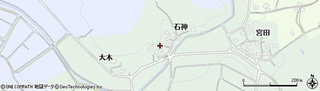 福島県郡山市下白岩町(石神)周辺の地図