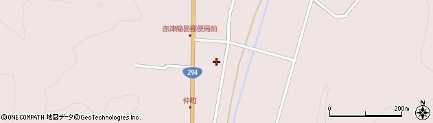 福島県郡山市湖南町赤津(中町裏)周辺の地図