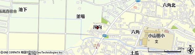 福島県郡山市大槻町(川向)周辺の地図