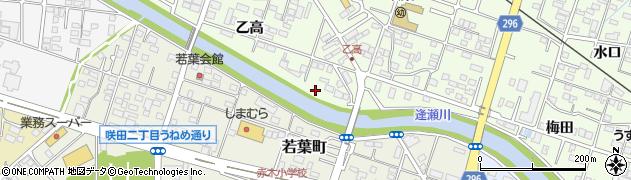 福島県郡山市富久山町久保田(乙高)周辺の地図