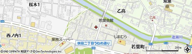 福島県郡山市若葉町周辺の地図
