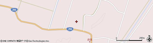 福島県郡山市湖南町赤津(切通)周辺の地図