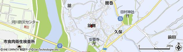 福島県郡山市阿久津町(舘側)周辺の地図