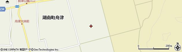 福島県郡山市湖南町舟津(新道東)周辺の地図