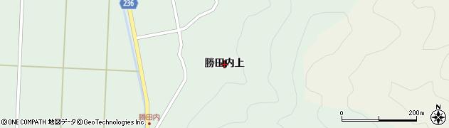福島県郡山市湖南町福良(勝田内上)周辺の地図