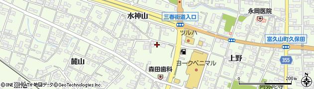 福島県郡山市富久山町久保田(上野)周辺の地図
