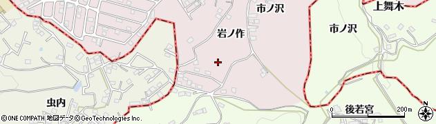 福島県郡山市舞木町周辺の地図