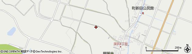 新潟県長岡市深沢町周辺の地図