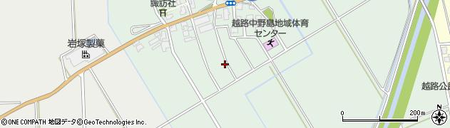 新潟県長岡市西野周辺の地図