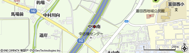 福島県郡山市片平町(中林南)周辺の地図