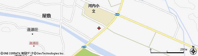 福島県郡山市逢瀬町河内(鍜治内)周辺の地図
