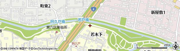 福島県郡山市富田町(堰場向)周辺の地図