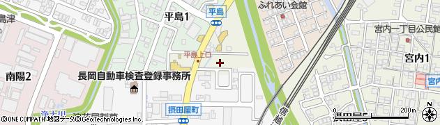 新潟県長岡市平島町周辺の地図