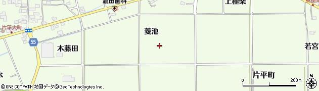 福島県郡山市片平町(菱池)周辺の地図