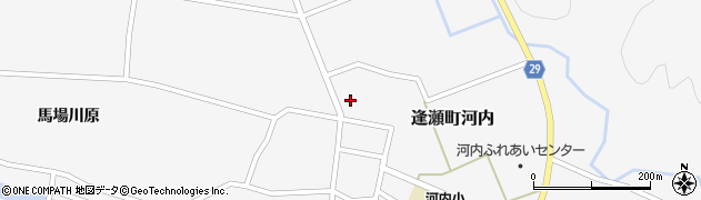 福島県郡山市逢瀬町河内(西荒井)周辺の地図