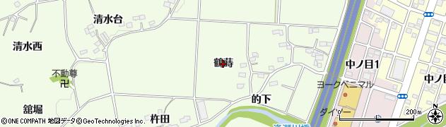 福島県郡山市片平町(鶴蒔)周辺の地図