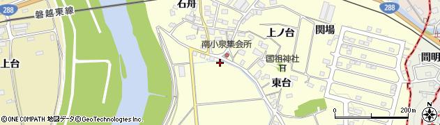 福島県郡山市富久山町南小泉(江下)周辺の地図