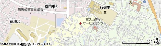福島県郡山市富田町(下双又)周辺の地図