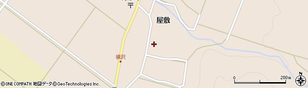 福島県郡山市湖南町横沢(屋敷)周辺の地図