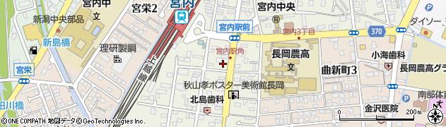 新潟県長岡市宮内周辺の地図