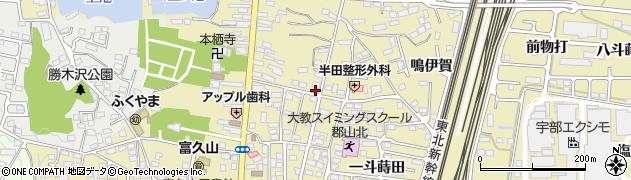 福島県郡山市富久山町福原(猪田)周辺の地図