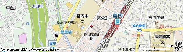 新潟県長岡市宮栄周辺の地図
