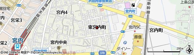 新潟県長岡市東宮内町周辺の地図