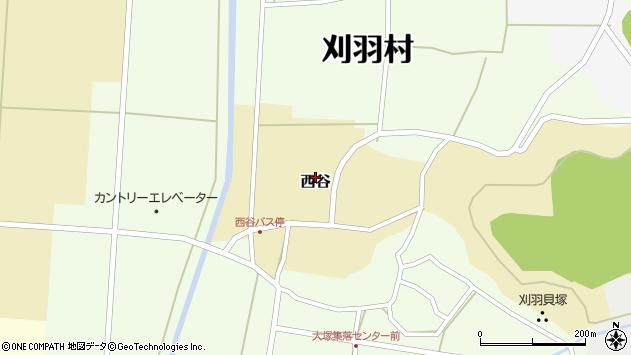 〒945-0312 新潟県刈羽郡刈羽村西谷の地図