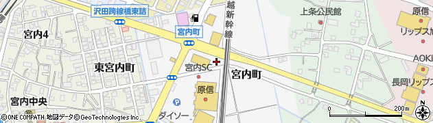 新潟県長岡市宮内町周辺の地図