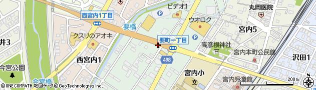 新潟県長岡市要町周辺の地図