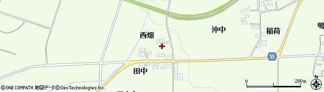 福島県郡山市片平町(西畑)周辺の地図