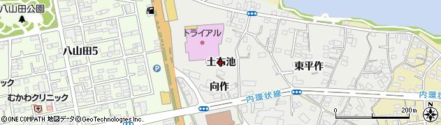 福島県郡山市富久山町八山田(土布池)周辺の地図