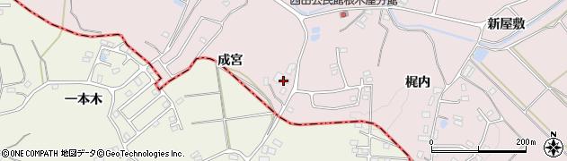 福島県郡山市西田町根木屋(成宮)周辺の地図