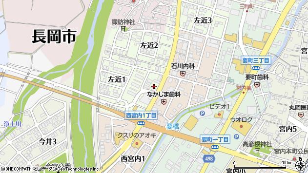 〒940-1161 新潟県長岡市左近町の地図