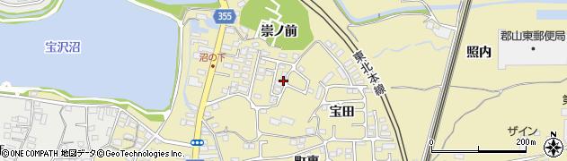 福島県郡山市富久山町福原(沼下)周辺の地図